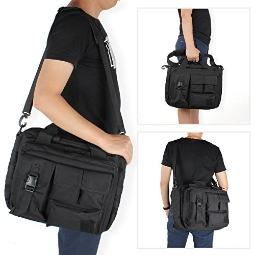 Leisure Army Waterproof Bag Shoulder Military Laptop Bags Outdoor resisting Tactical Nylon Men's Wear Hunting Black Messenger AFxqwSO