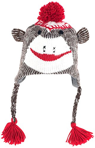 Trademark Adult Size Sock Monkey Knit Hat with Poly-Fleece -