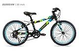 "Bicicleta ligera Guardian para niños de 20 pulgadas, sistema SafeStop Brake patentado seguro, bicicleta de montaña para niños, tamaños de bicicleta para niños de 3 '9 ""- 4' 5"", bicicletas para niños y bicicletas para niñas"