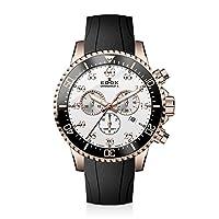 """Reloj deportivo deportivo de cuarzo y acero inoxidable con cuarzo """"Chronorally-S"""" para hombre de Edox, color: negro (Modelo: 10227 37RCA ABR)"""