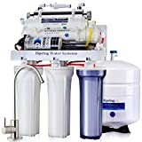 iSpring RCC1UP RCC1UP-N 6 Stage 100 GPD Maximum Performance UnderSink Reverse Osmosis Drinking Water Filtration System With Booster Pump And UV Sterilizer, White