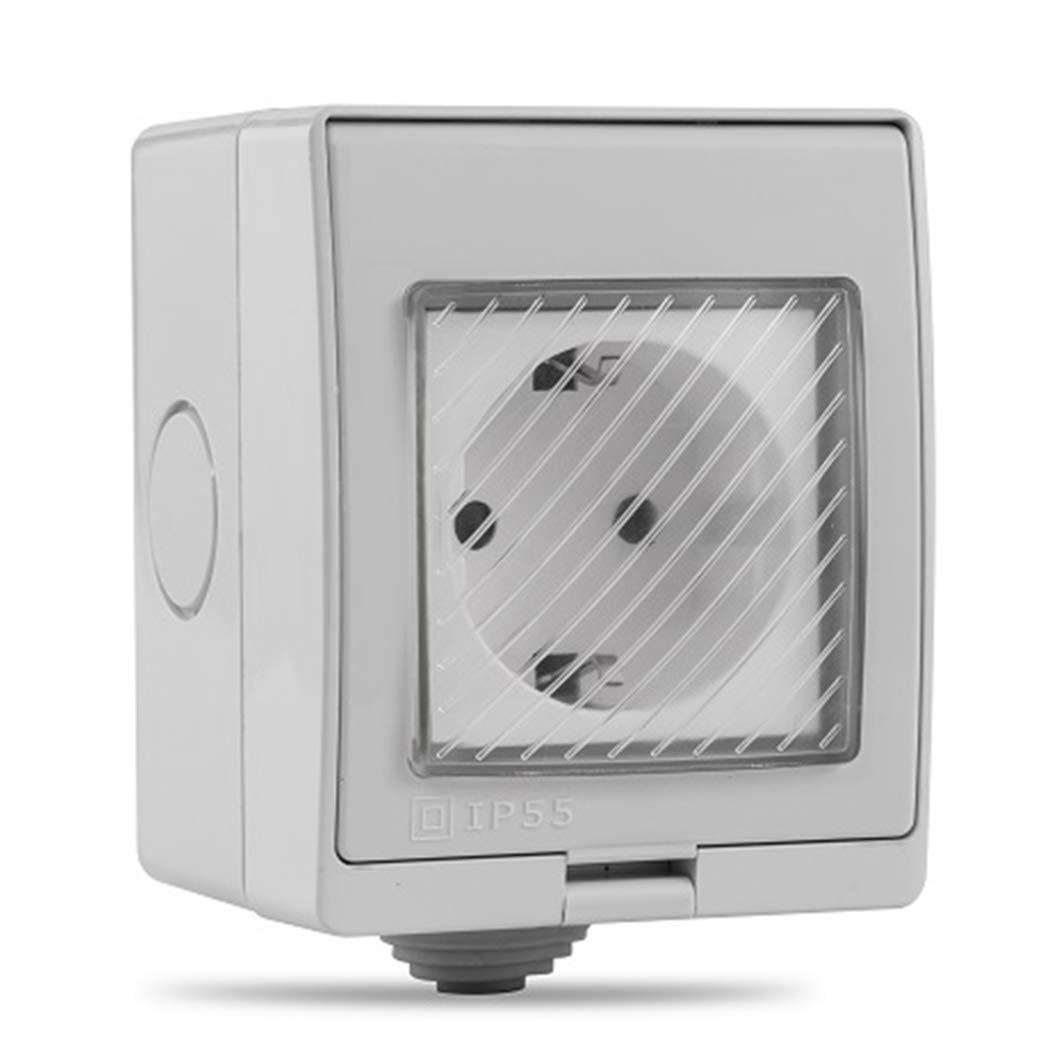 Justdolife Enchufe De Pared De Interruptor De Temporizador Habilitado para WiFi Inteligente A Prueba De Agua para El Hogar