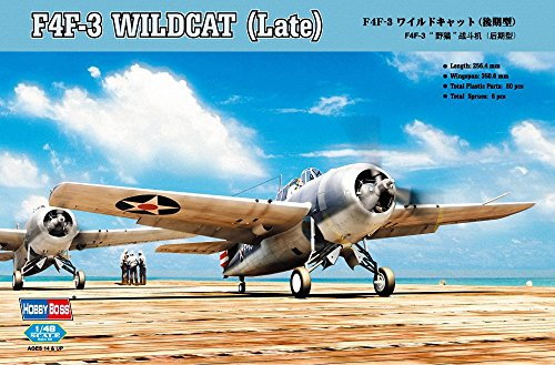 dcat (Late) Airplane Model Building Kit (Grumman F4f 3 Wildcat)