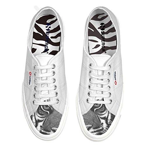 Superga - Zapatillas de algodón para hombre blanco Bianco
