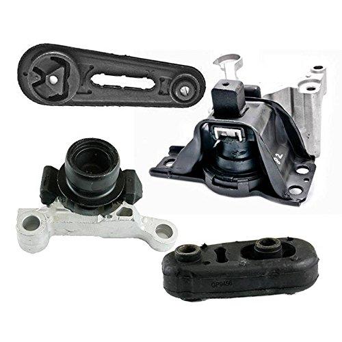 Nissan Sentra Engine Mount - K2304 Fits 2007-2012 Nissan Sentra 2.0L w/AUTO CVT Motor & Trans Mount Set 4pcs : A4348, A4345, A4318, A4346