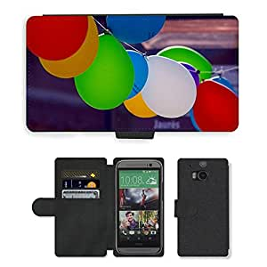 Hot Style Cell Phone Card Slot PU Leather Wallet Case // M00171225 Balloons Air Festival Fair City // HTC One M8