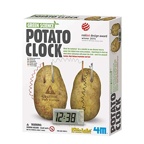 4M Potato Clock - Potato Green