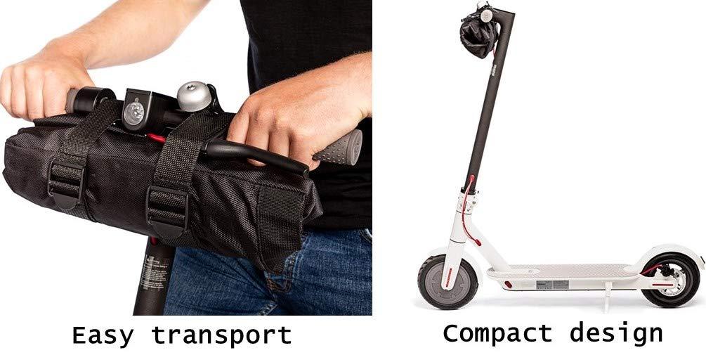 lamaki:Lab Bolsa de Transporte e-Scooter, Elegante y Confortable para Xiaomi Mijia M365 Bolsa de Scooter Patinete eléctrico Manillar Extra Robusto ...