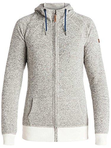 Sweatshirt À Capuche Snowboard Zippé Femme Roxy Resin Knit Egret
