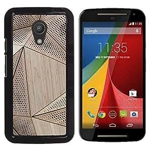 Be Good Phone Accessory // Dura Cáscara cubierta Protectora Caso Carcasa Funda de Protección para Motorola MOTO G 2ND GEN II // Wood Architecture Pattern Engineering