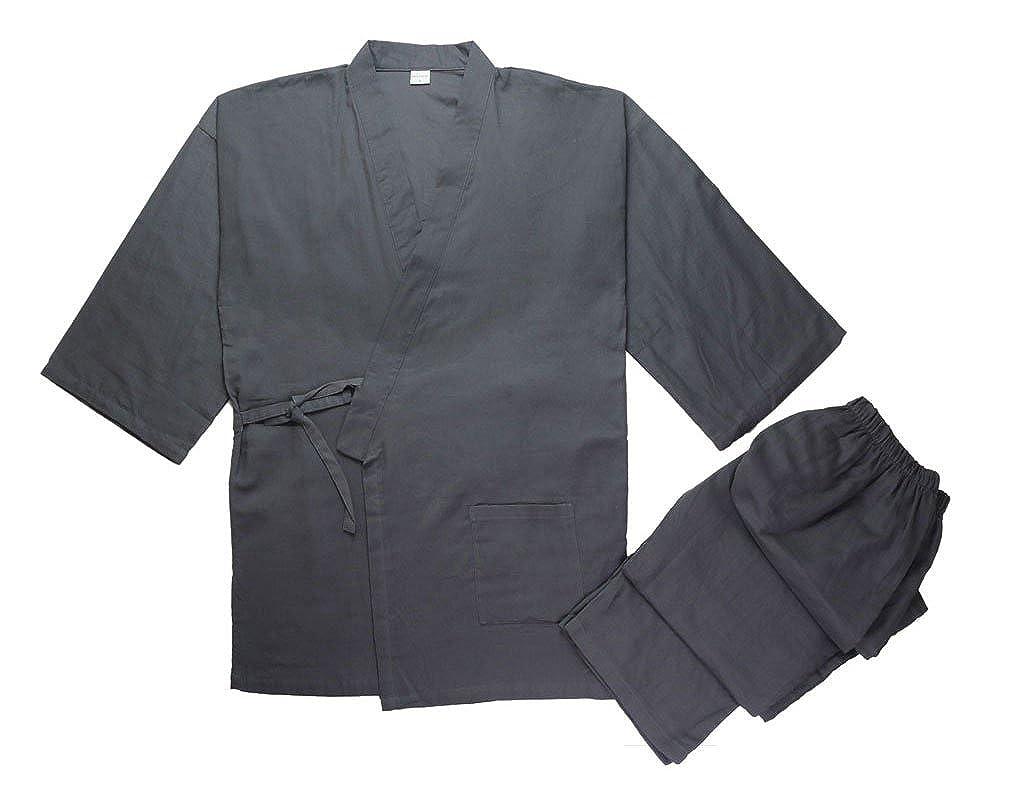 Soojun Mens Kimono Jinbei Shirt and Pant Japanese Loungewear