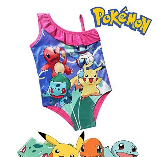 Pokemon One-Piece Pink Swimsuit (7-8 sz 130)