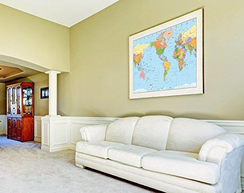 "United States Centered World Map (1 Map, Laminated, 32"" x 53.5"" Rolled, 2017) Photo #3"