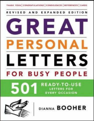 Great Personal Letters for Busy People: 501 Ready-to-Use Letters for Every Occasion PDF ePub fb2 ebook
