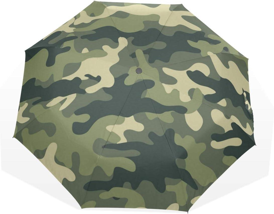 Parapluie Camo Camouflage Green 3 plis anti-UV coupe-vent l/éger