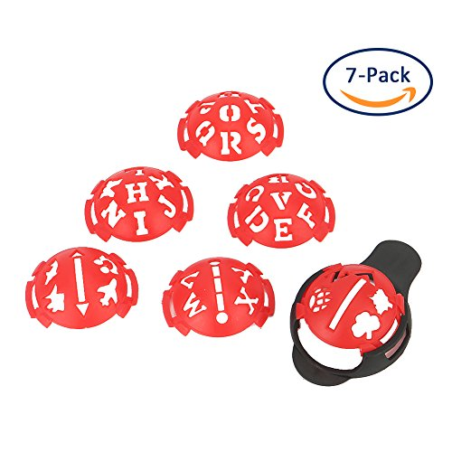 Echeer Golf Ball Marker, Golf Ball Line Makers Golf Ball Line Drawing Marking Alignment Putting Tool, Template Drawing Mark Alignment Putting Tool for Golfer Training Accessories (Pack of 7) by Echeer (Image #3)