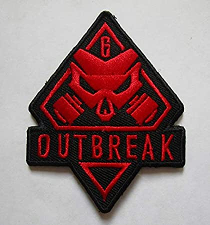 aae9918197a7 Rainbow SIX Outbreak Military Patch Fabric Embroidered Badges Patch  Tactical Stickers for Clothes with Hook & Loop