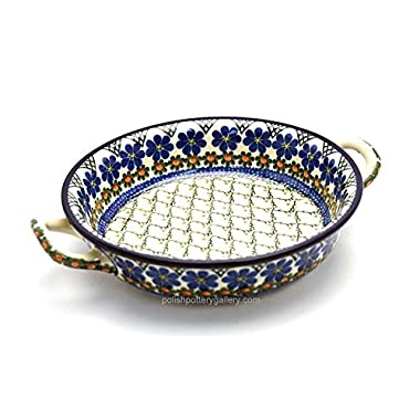 Polish Pottery Baker - Round with Handles - Medium - Primrose