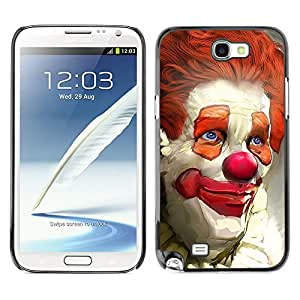 - Clown Evil Joker Pattern - - Caja del tel¨¦fono delgado Guardia Armor FOR Samsung Galaxy Note2 N7100 N7102 N7108 Devil Case