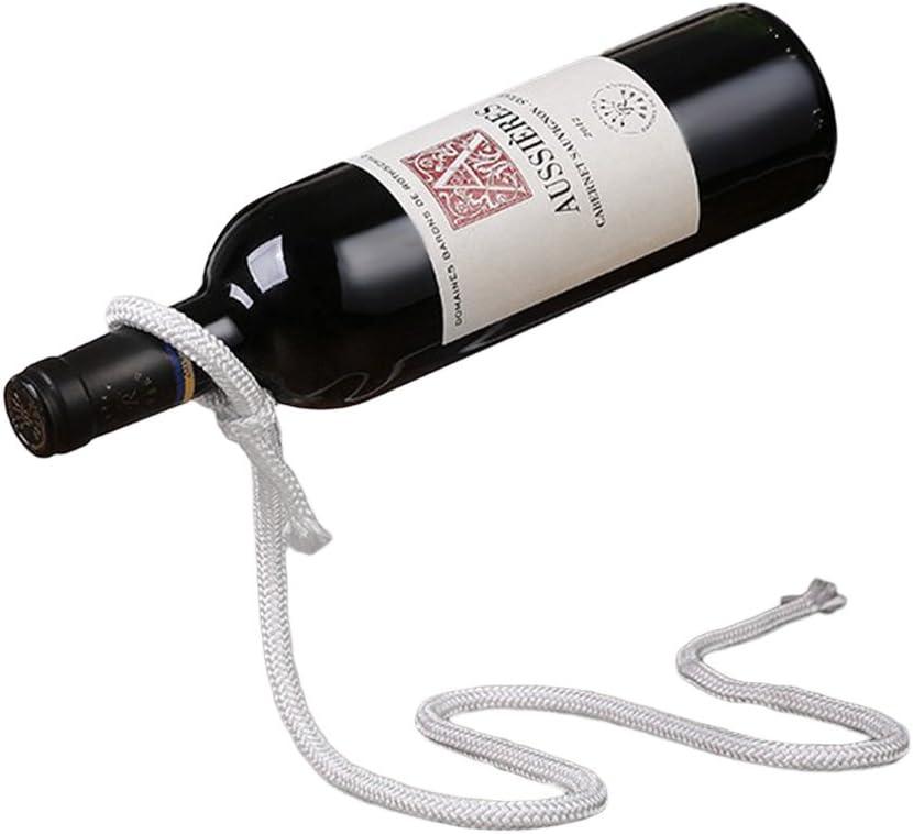 Amazon Com Novias Creative Robe Wine Bottle Rack Magic Robe Wine Bottle Holder Floating Illusion Rack Stand Home Decoration Kitchen Dining