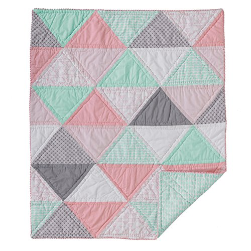 Sparrow Stroller Blanket (Lolli Living Sparrow Cotton Filled Comforter – Triangle – Colorful, Modern Cotton Comforter, Lightweight And Soft Baby Blanket For Crib, Stroller&Tummy Time)