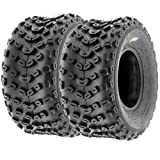 Set of 2 SunF A005 ATV UTV Off-Road Tires 22x11-10, 6-PR, Knobby Tread for Trail/XC/Sport