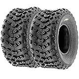Set of 2 SunF A005 ATV UTV Off-Road Tires 22x11-10, 6-PR, Knobby Tread for Trail/XC/Sport