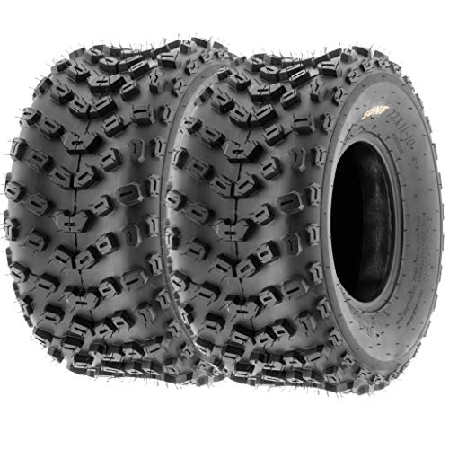 (Set of 2 SunF A005 ATV UTV Off-Road Tires 22x11-10, 6-PR, Knobby Tread for Trail/XC/Sport)