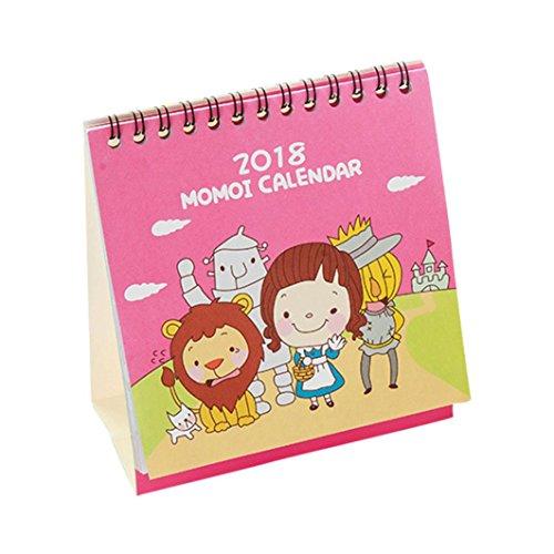 Cute Halloween Wallpaper Desktop (Euone 2018 Cute Cartoon Animal Desk Desktop Calendar Flip Stand Table Office Planner (A))