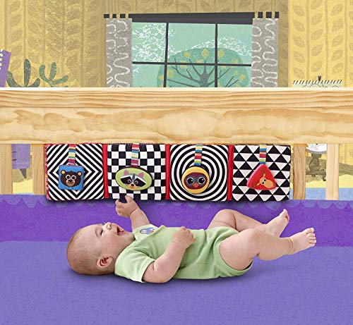 Lamaze Baby Toys - Discovering Shapes Crib Gallery and Activity Puzzle - Baby Toy with Patterns, Colors and Sounds to Stimulate Brain Activity - Tie Onto Baby Crib - Recommended Age 0-24 Months