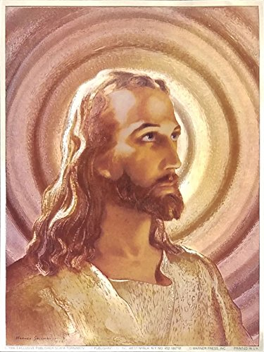 The Head of Christ By Sallman Religious Christian Wall Decor Art Metallic Ink Print Mini Poster (6x8 Inch)