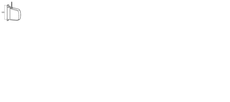 Cambesa 42002 Recogedor Persiana Blanco