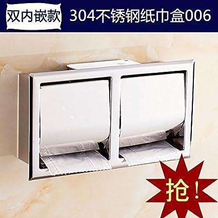 SMJGD Continental es moderno y minimalista con estilo retro caja de papel higiénico inodoro de acero ...