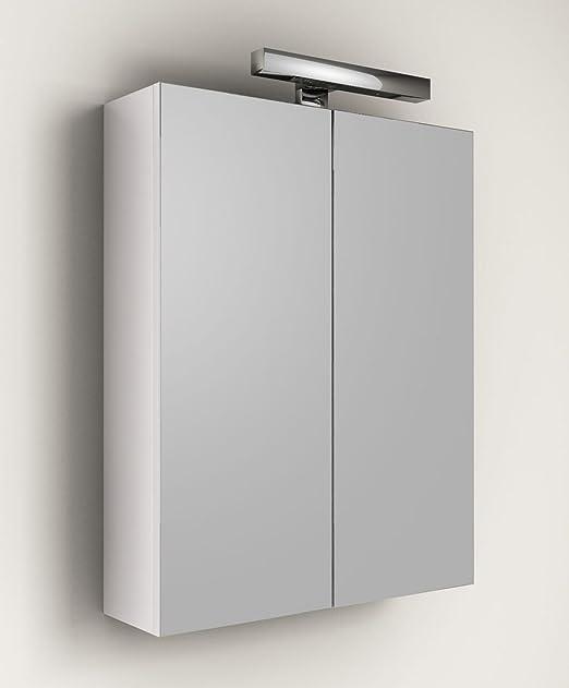 Specchiera specchio da bagno Contenitore da 60x60hx18 bianco: Amazon ...