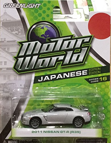 R35 Series (2016 GREENLIGHT MOTOR WORLD 2011 NISSAN GT-R R35 JAPAN EDITION SERIES 16 1:64)