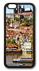 iphone 6 plus Case,Prague City View Custom TPU Soft Case Cover Protector for iphone 6 plus 5.5 inch Black