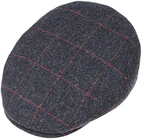 Schieberm/ütze mit Ohrenklappen Stetson Kent Wool Ohrenklappen Flatcap Herren Made in EU Flat Cap mit Kaschmir Schirmm/ütze Ohrenm/ütze Herbst//Winter