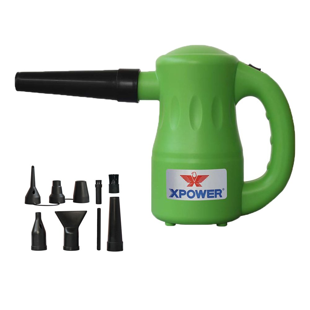 XPOWER Portable Multipurpose Pet Dryer/Electric Duster, 2.7 lb, Green