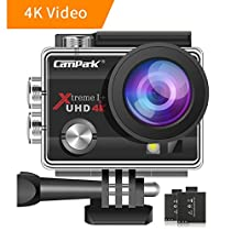 Campark 4K WiFi Action Camera 30M Underwater Camera 16MP Waterproof Sports Camera