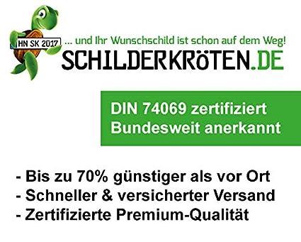Schilderkr/öten.de KFZ-Kennzeichen 520x110mm f/ür Auto und Fahrradtr/äger
