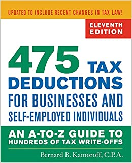 Amazon.com: 475 Tax Deductions for Businesses and Self-Employed ...