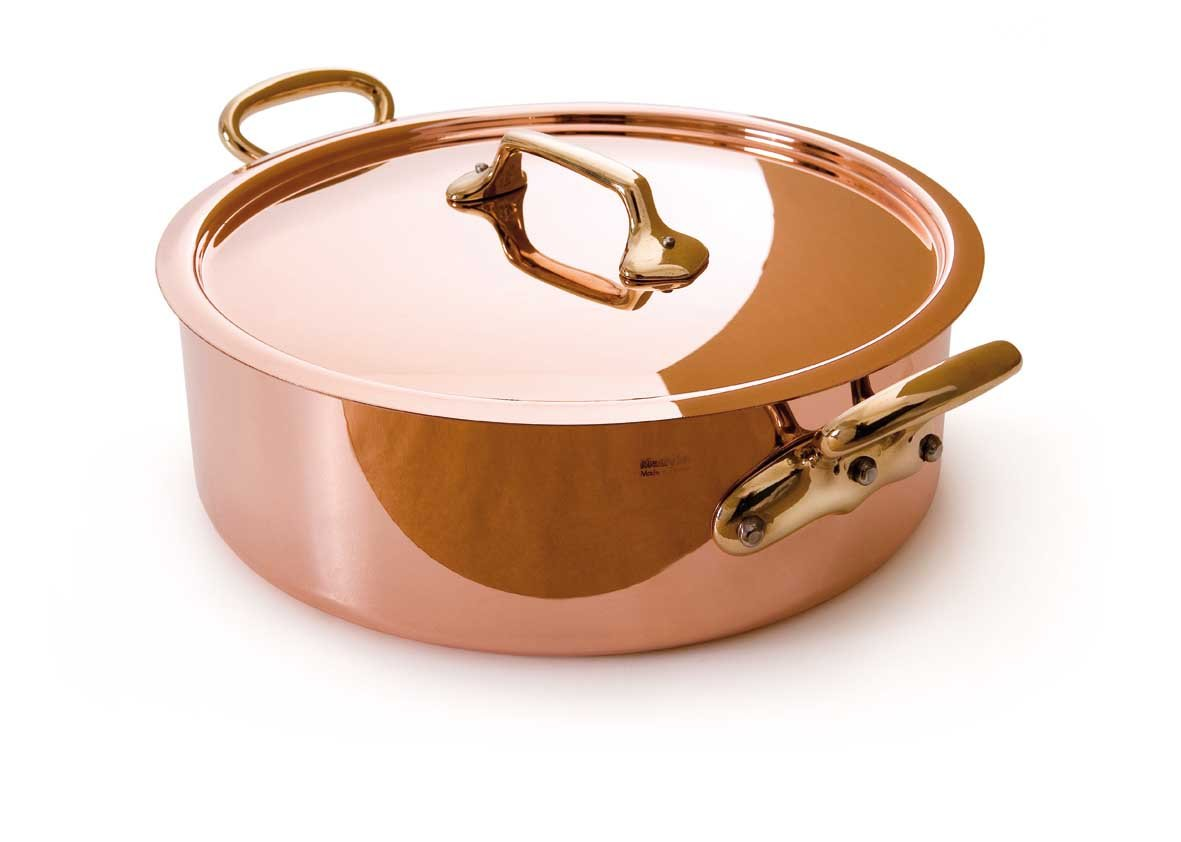 Mauviel Made In France M'Heritage Copper M150B 6506.24 3.4-Quart Saute Pan with Lid and Bronze Handles