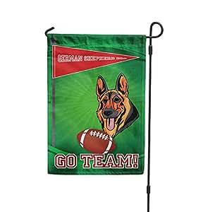 Ventilador de fútbol alemán Pastor Perro Perro Patio Patio Casa Banner bandera de Jardín Juego