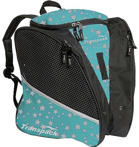 Transpack Ice with Print Design - Bag for Ice Skating (Aqua Blue Star)