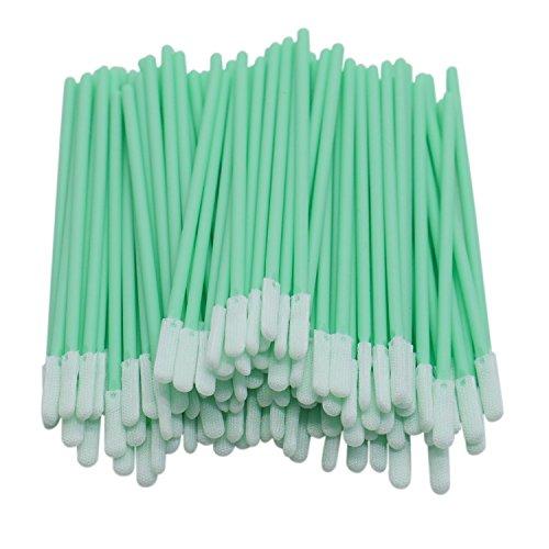 Stick Inkjet Fabric - Buorsa 100 pcs Fabric Tip Cleaning Swabs Sponge Stick for Inkjet Printer, Printhead, Camera, Cleanroom, Optical Lens, Gun, Automotive Detailing, Optical Equipment