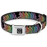 Grateful Dead Psychedelic Rock Rainbow Dancing Skeletons Seatbelt Pet Dog Collar