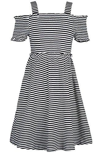 Truly Me, Big Girls' Spring/Summer Easy Off-The-Shoulder Striped