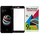 BlueArmor [Edge to Edge] Xiaomi Mi A1 Tempered Glass [Full Coverage][For New Release Xiaomi Mi Android One] Screen Guard Protector - Black