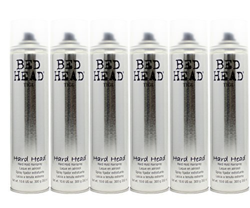 Tigi Bedhead Hard Head Hairspray (6 Pack) (Hair Spray Head Bed)