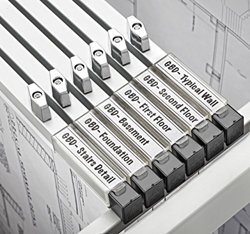 AdirOffice 30'' Blueprint File Hanging Clamps - Grey (Set of 6) by Adir Corp. (Image #1)